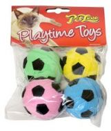 Cool Pet Sponge Footballs 4pk