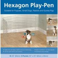 Rosewood Hexagonal Play Pen
