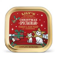 Lilys Cat Christmas Turkey & Ham Feast 85g
